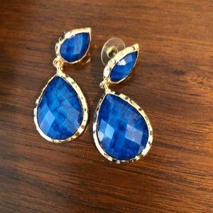 Blue gemstone earrings